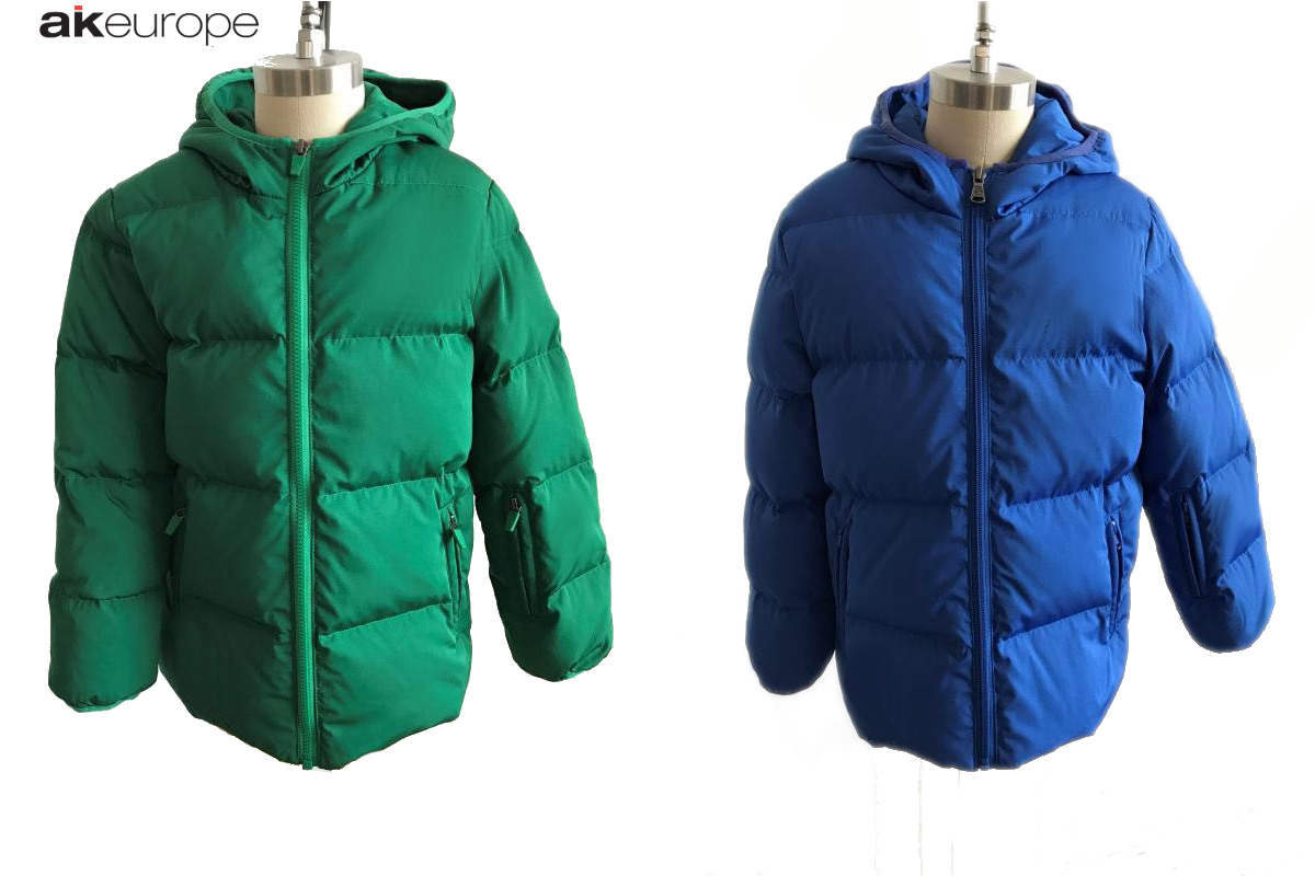 AK EUROPE JUNIOR DOWN JACKET BULK PRODUCTION-PROTOTIPIA