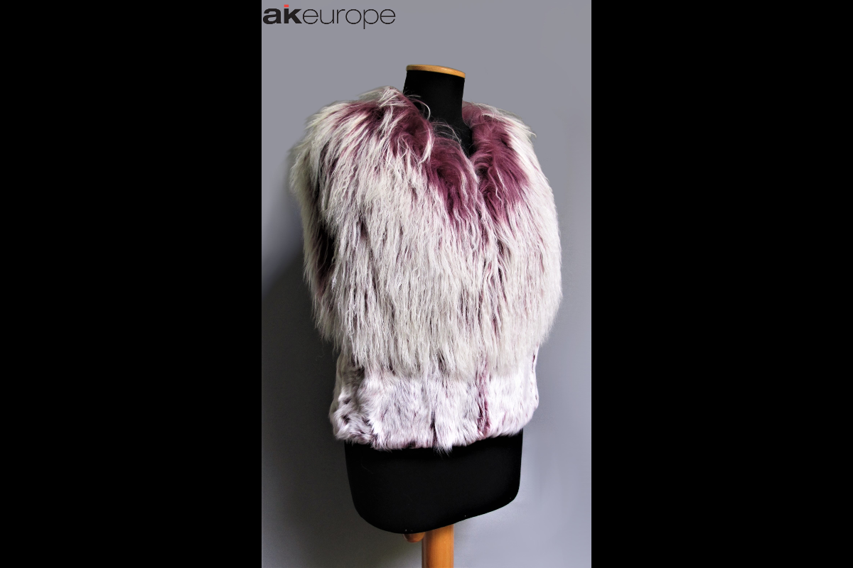 AK EUROPE WOMAN REAL FUR VEST COAT JACKET BULK PRODUCTION-PROTOTIPIA