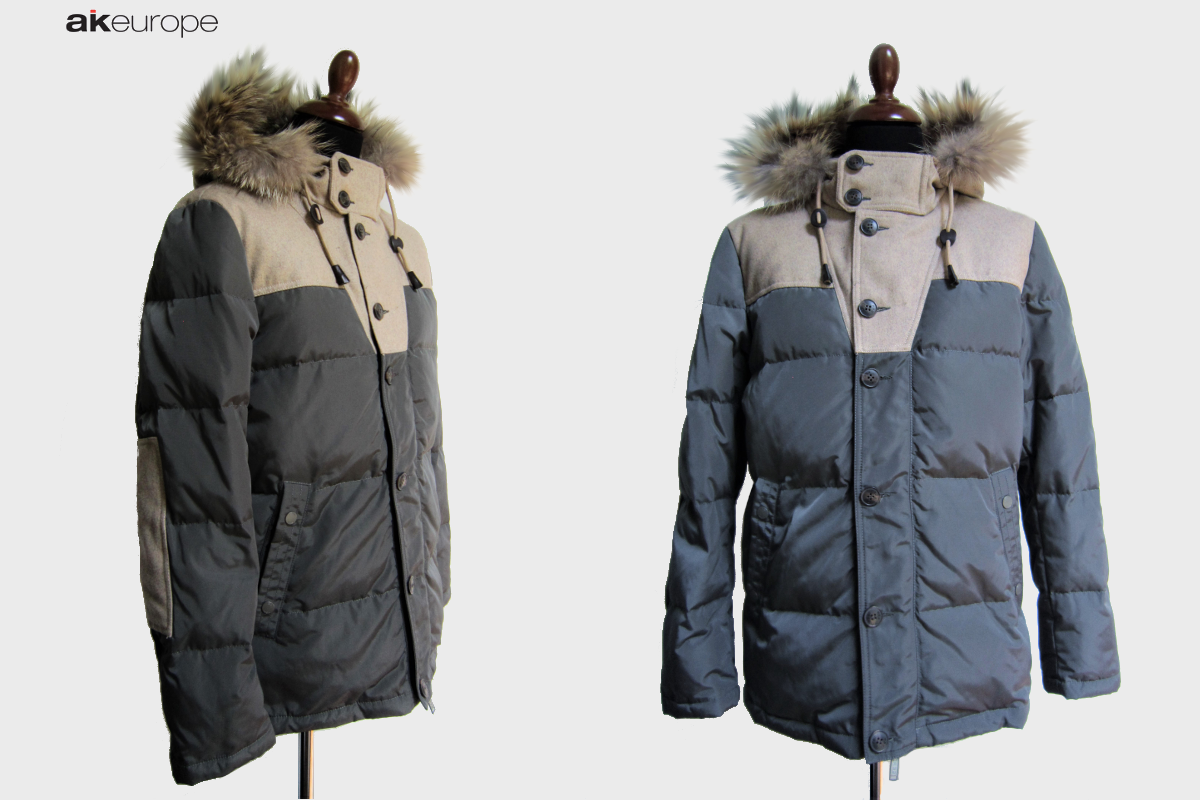 AK EUROPE MAN WOOL COAT DOWN JACKET PARKA BULK PRODUCTION-PROTOTIPIA