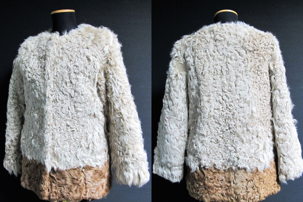 Woman fur jacket - lamb fur