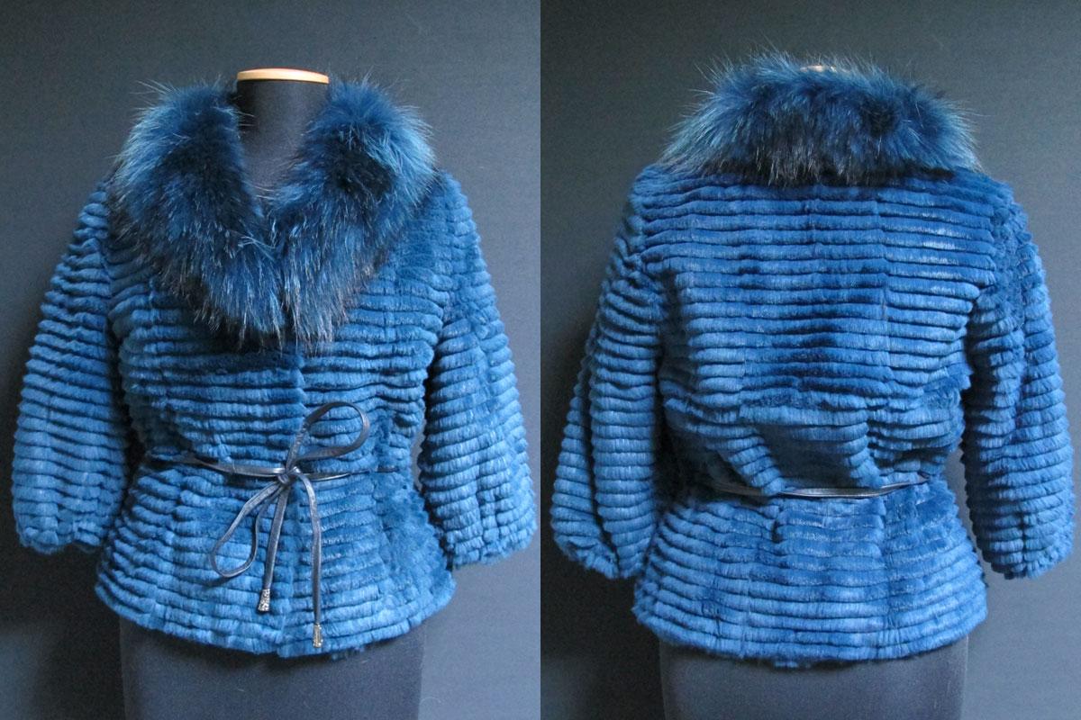pelliccia blu lavorazione particolare - ak europe